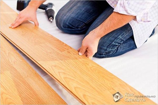 Укладка ламината на неровный пол — как укладывать ламинат по кривому полу