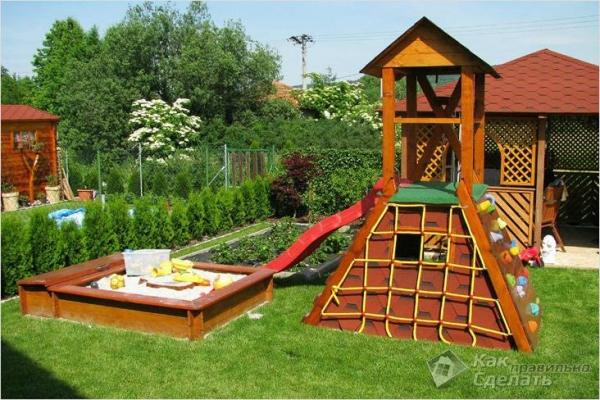 Как сделать детскую площадку (+фото)