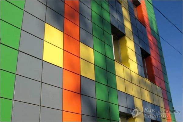 Облицовка фасада металлокассетами — технология монтажа металлокассет (+фото)