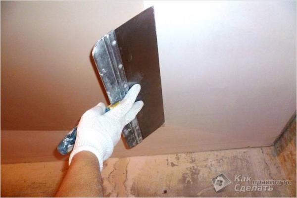 Выравнивание потолка своими руками — выравниваем поверхность потолка (+фото)