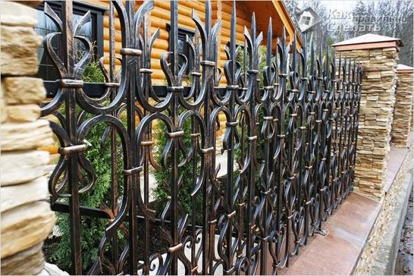 Как сделать кованый забор своими руками — изготовление кованого забора
