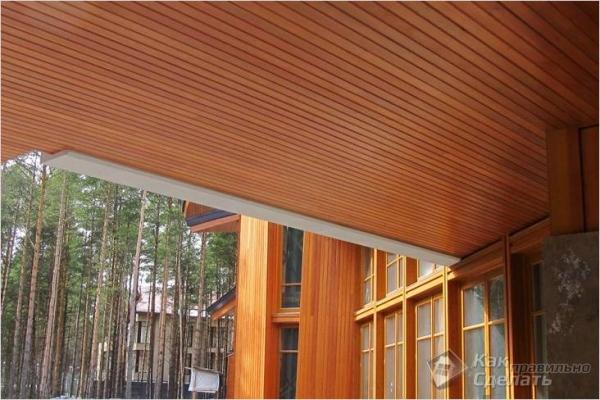 Как крепить вагонку на потолок — отделка потолка (+фото)