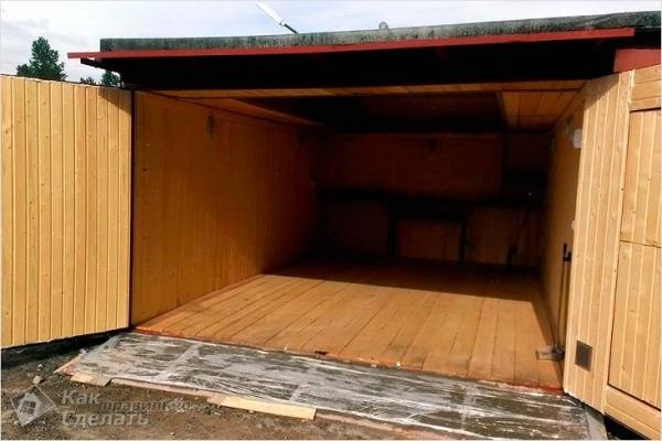 Как сделать деревянный пол в гараже своими руками — монтаж