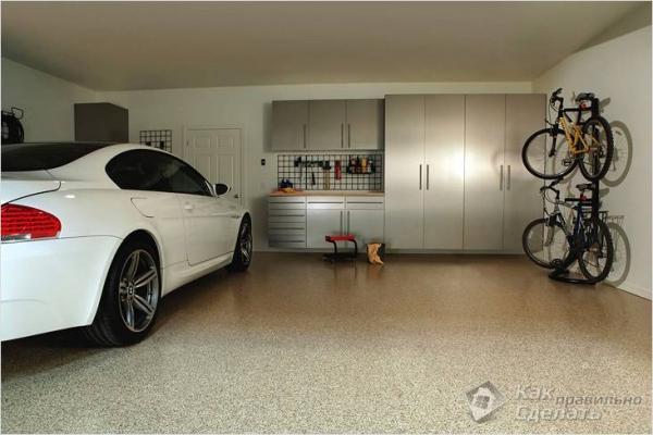 Пол в гараже своими руками — бетонный, деревянный, наливной