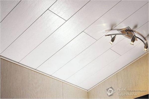 Как правильно сделать пластиковый потолок + видео