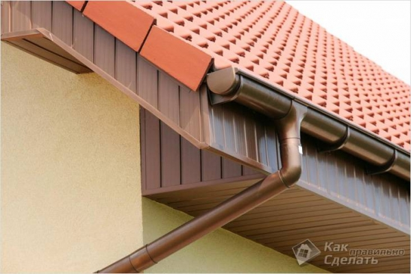 Как крепить водостоки к крыше — крепление желоба своими руками