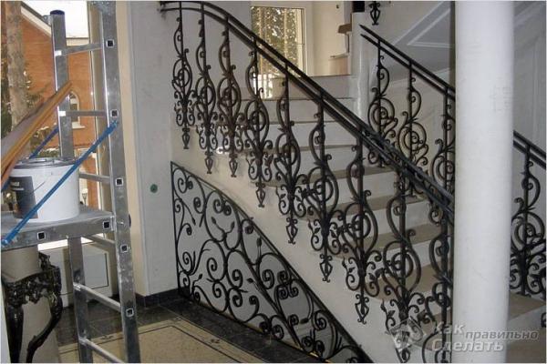 Как сделать перила для лестницы — ограждения из дерева и металла (+фото)