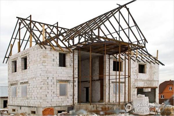 Как построить дом из пенобетона — как строить дом