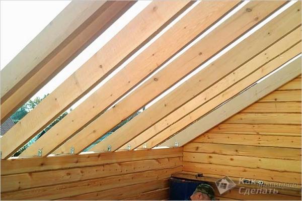 Как установить стропила на крышу — монтаж стропильной системы